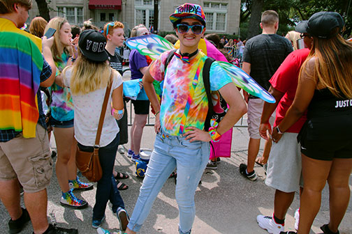 Alex Belcher at PRIDE Parade