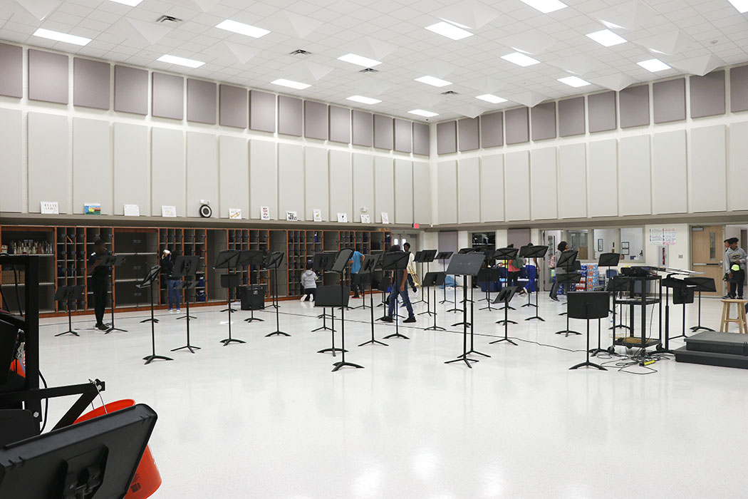 New rehearsal space in new band hall