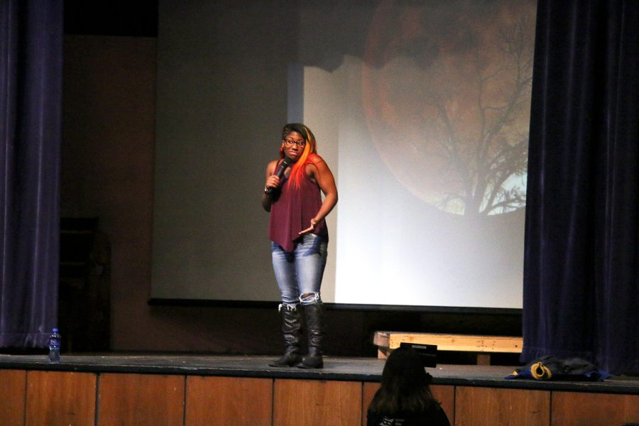 Adrienne Reese speaks to LC students