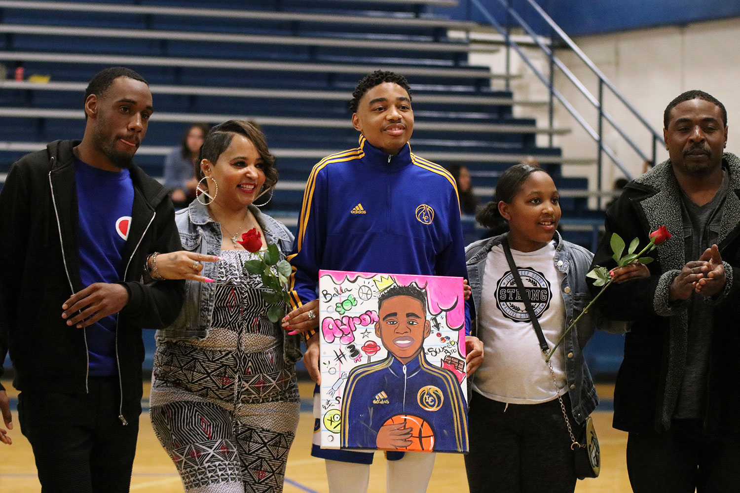 Senior Ariyon Williams is acknowledged for his commitment to Lakeviews basketball team.