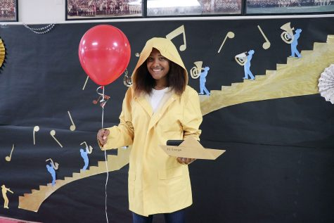 "Student dresses up for ""Character Day."""