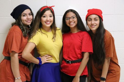"Students dress up during homecoming week for ""Character Day."""