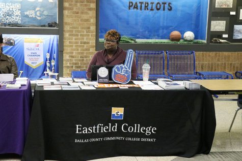 Eastfield Respresentative at College Fair